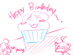 Birthday Cupcake by Luvon