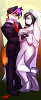 The Happy Couple Miles and Zee by Luvon